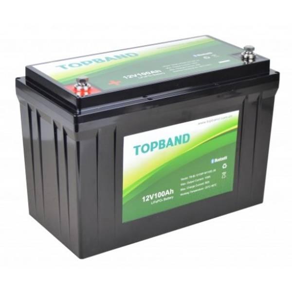 Bilde av TOPBAND Lithium HEAT PRO - 12V 100AH - 150 BMS Bluetooth