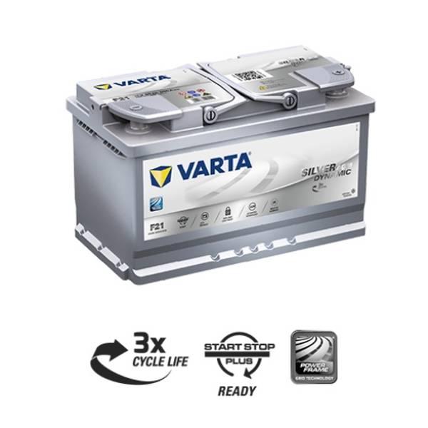 Bilde av VARTA F21 Silver Dynamic AGM Batteri 12V 80AH 800CCA