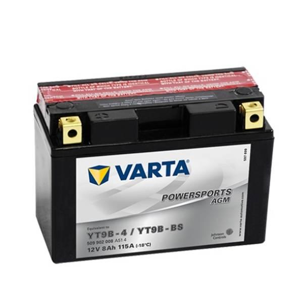 Bilde av  VARTA YT9B-BS AGM MC Batteri 12V 9AH 115CCA (149x70x105mm) +ven